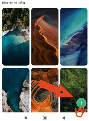 Thêm ảnh nền điện thoại Xiaomi