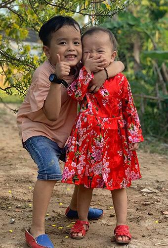 Khương dừa và 2 con, con của khương dừa