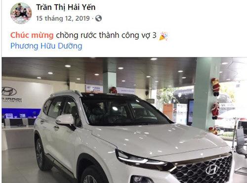Phương Hữu Dưỡng mua ô tô
