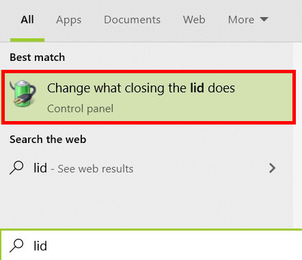 Setting When I close the lid - Thiết lập laptop khi đóng màn hình
