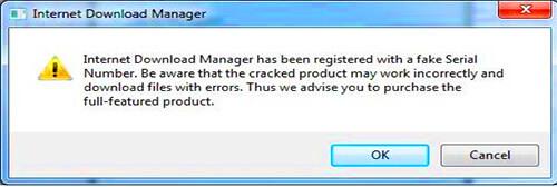 IDM Fake serial number - Internet download manager đã được đăng ký với một số đăng ký giả mạo