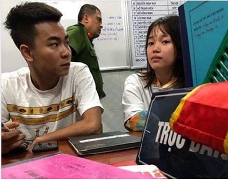 Quang Cuốn và Linh Ngọc Đàm bị bắt lên phường.