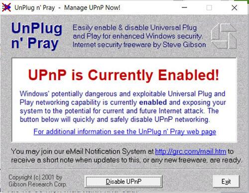 Giao diện sử dụng UPnP
