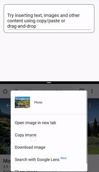 Copy dán hình ảnh trên android 12