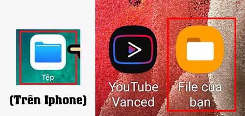 Quản lí file andropid và iphone