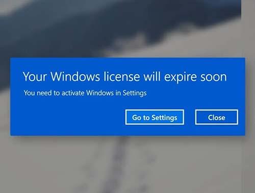 Hết hạn bản quyền window 11, thông báo nhập key