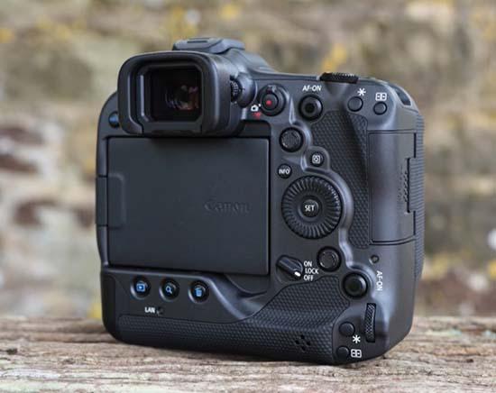 Mặt sau máy ảnh Canon EOS R3