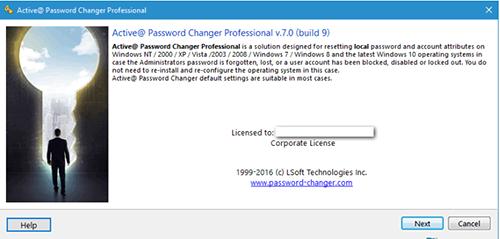 Giao diên phần mềm xoá mật khẩu