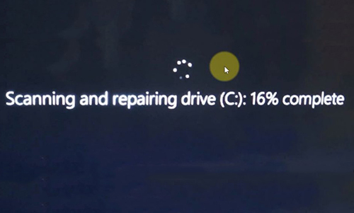 sửa lỗi scanning and repairing drive windows 11
