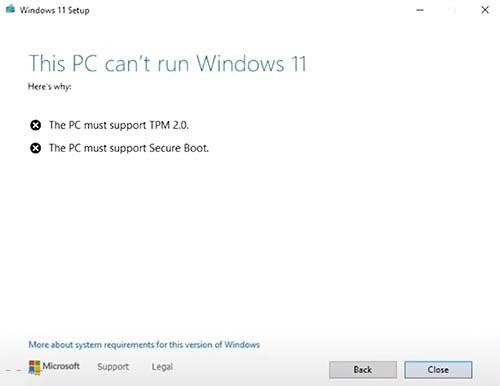 The PC must support secure boot