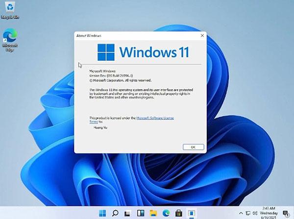 Giao diện desktop Windows 11