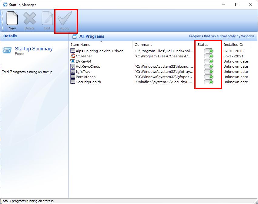 tắt ứng dụng khởi động cùng Windows với Your Unin-staller!