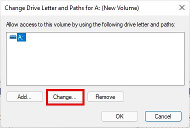 Thay đổi tên ổ đĩa, chữ cái