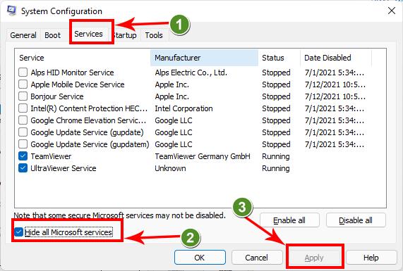 Tắt services các ứng dụng khởi động cùng Windindows