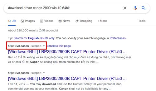 Cách Tìm kiếm driver máy in