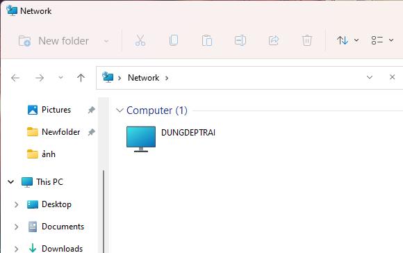 Vào network xem những máy tính được kết nối
