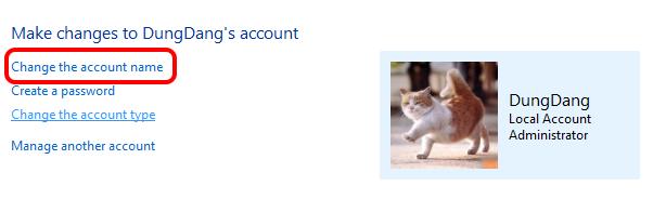 Edit user profile windows