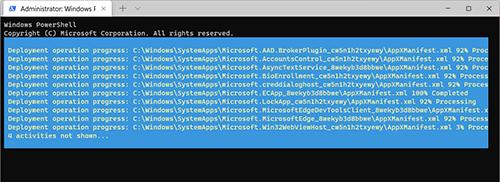 Cài đặt lại tất cả ứng dụng trên Windows 11