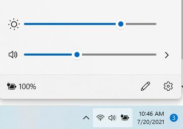 Mở biểu tượng âm thanh trên thanh taskbar