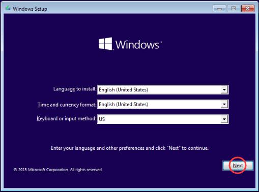 Boot vào usb cài đặt Windows