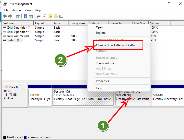 Change Drive Letter and Paths trên windows 11