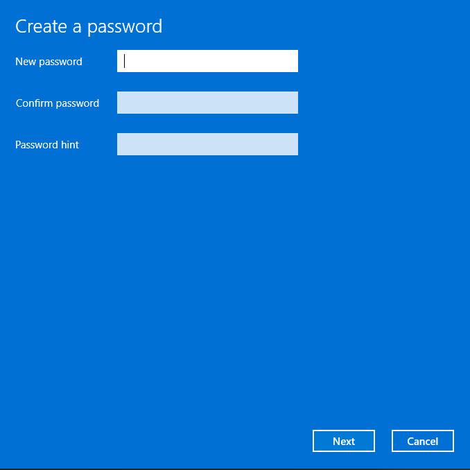 cài đặt mật khẩu windows