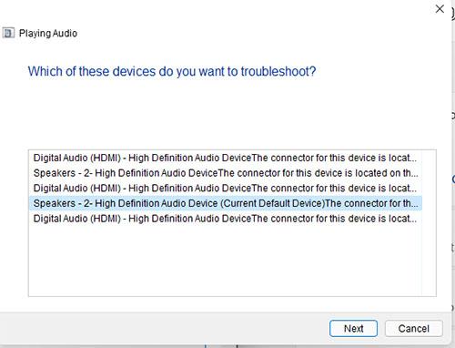 chọn driver âm thanh có sẵn trong windows
