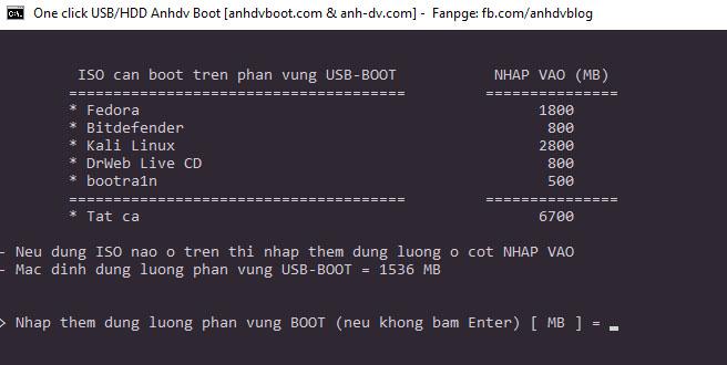 Một số công cụ phụ trợ bạn có thể chọn khi tạo USB Boot