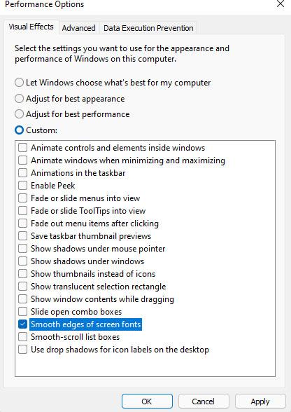 Tăng tốc máy tính bằng cách tắt hiệu ứng chuyển động win 11