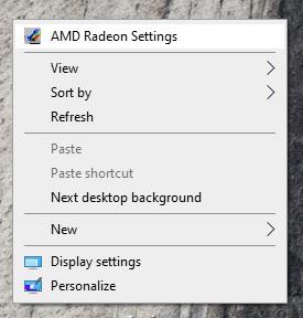 Mở AMD Radeon setting đồ họa lên