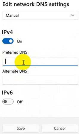 Cách đỏi DNS google trên windows 11