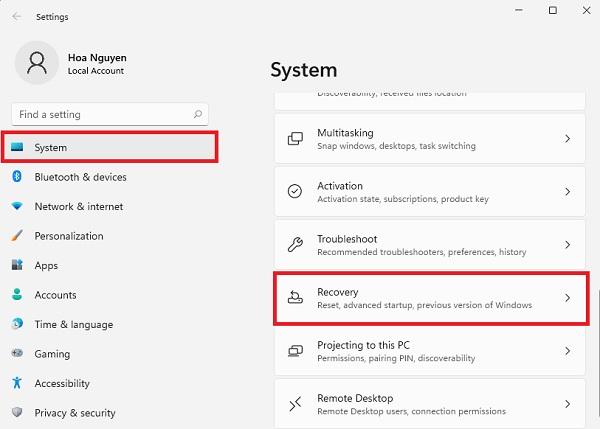 Cách reset Windows 11 về trạng thái ban đầu