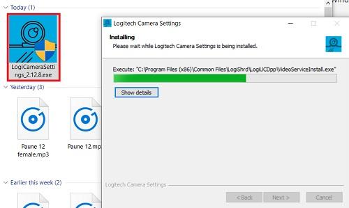 Cài đặt driver webcam logitech C270 HD