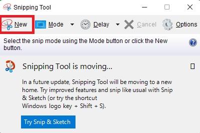 Chụp ảnh màn hình máy tính Windows 11 bằng Snipping tool