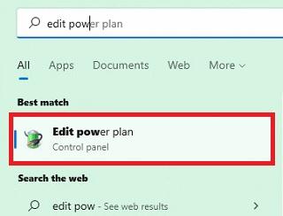 Edit Power Plan win 11
