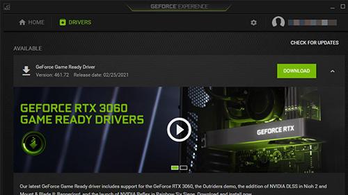 Ứng dụng GeForce Experience