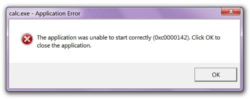 Lỗi không mở được file exe