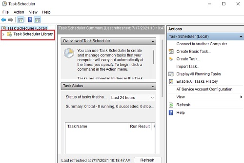 Thay đổi lịch chạy Windows Defender