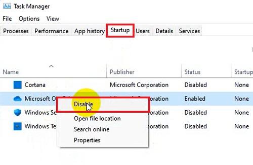 Tắt chương trình khởi động cùng Windows 11