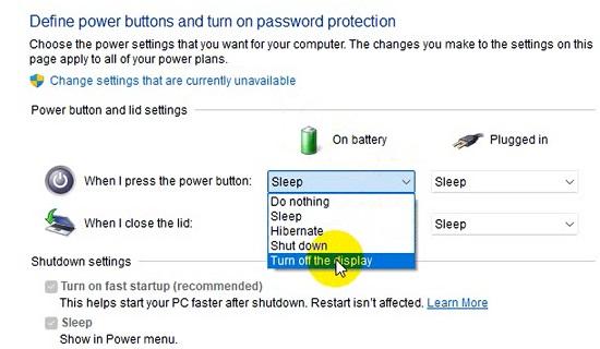Cách tắt màn hình laptop Windows 11