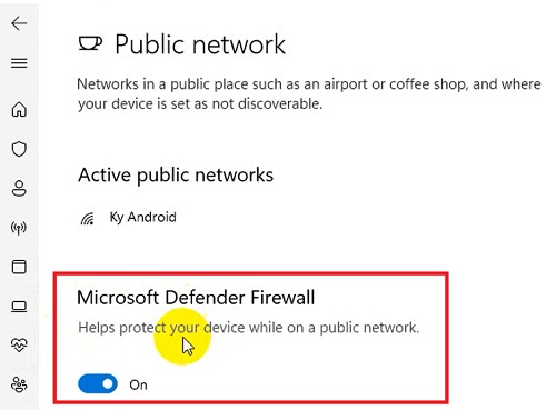 tắt microsoft defender firewall