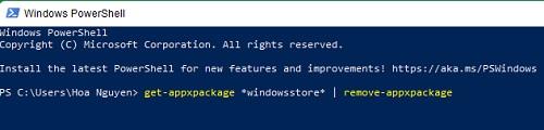 tắt Microsoft Store sửa lỗi full disk