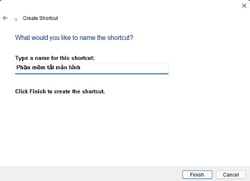 Đặt tên cho phần mềm tắt màn hình laptop