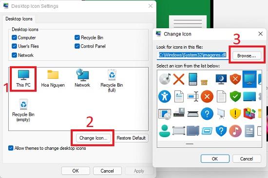 Thay đổi icon This PC trên Windows 11