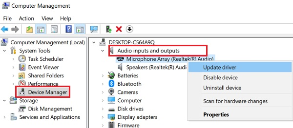 Update driver Microphone