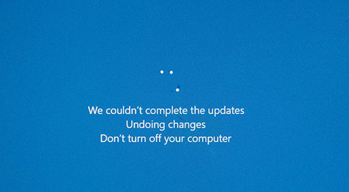 Sửa lỗi we couldn't complete the updates windows