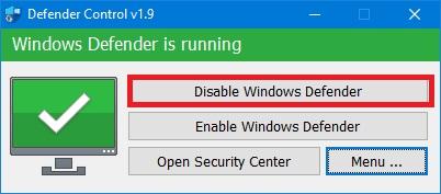 Phần mềm tắt Windows Defender