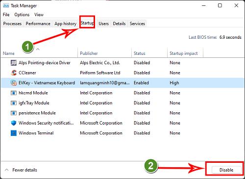 Tắt ứng dụng khởi động với Windows thông qua Starup