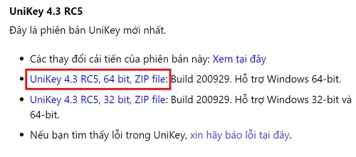 Tải về Unikey gõ tiếng việt