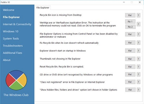 danh sách lỗi File Explorer
